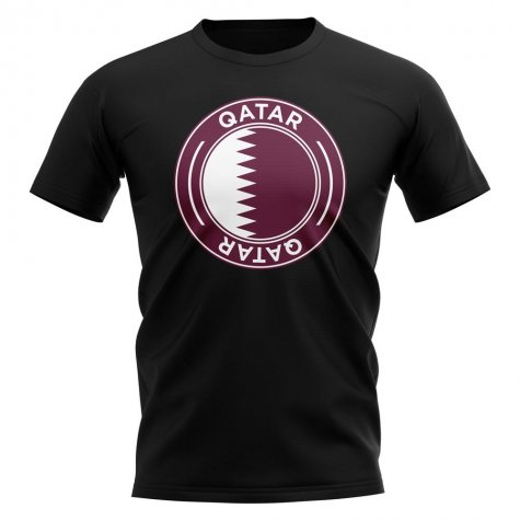 Qatar Football Badge T-Shirt (Black)