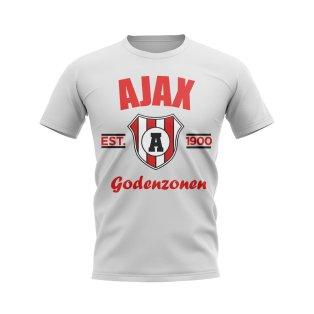Ajax Established Football T-Shirt (White)