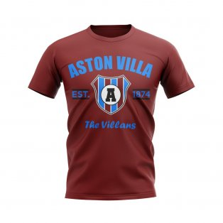 Aston Villa Established Football T-Shirt (Maroon)