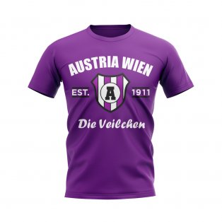 Austria Wien Established Football T-Shirt (Purple)