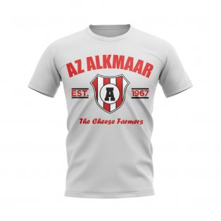 Az Alkmaar Established Football T-Shirt (White)