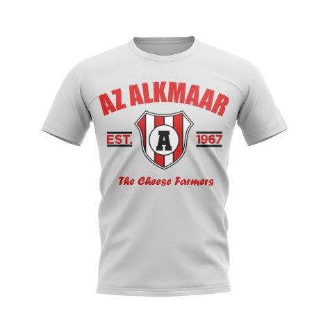 Az Alkmaar Established Football T-Shirt (White)