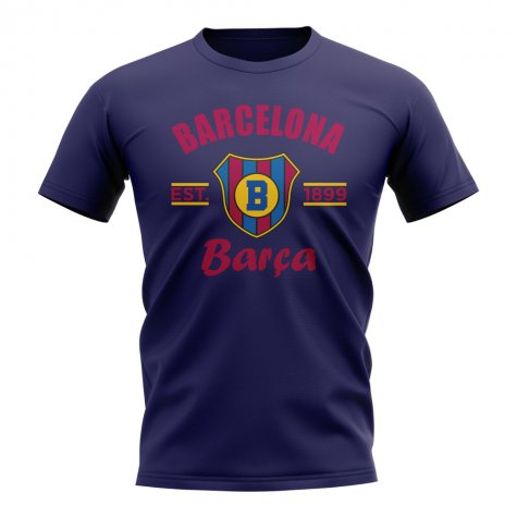 Barcelona Established Football T-Shirt (Navy)