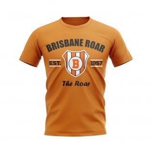 Brisbane Roar Established Football T-Shirt (Orange)