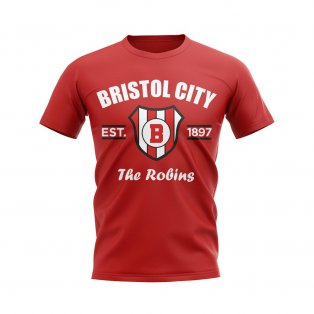 Bristol City Established Football T-Shirt (Red)