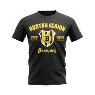 Burton Albion Established Football T-Shirt (Black)