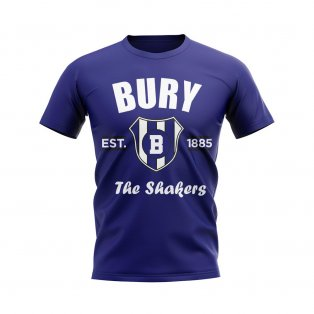Bury Established Football T-Shirt (Navy)