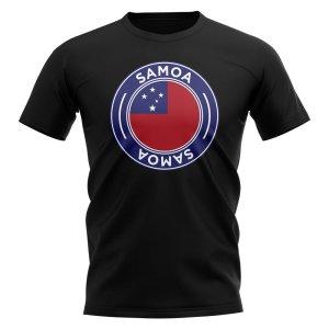 Samoa Football Badge T-Shirt (Black)