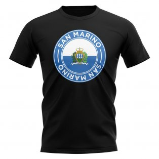San Marino Football Badge T-Shirt (Black)