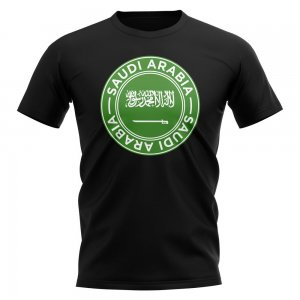 Saudi Arabia Football Badge T-Shirt (Black)