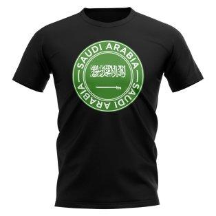 Saudi Arabia Football Badge T-Shirt (Black)