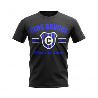 Club Brugge Established Football T-Shirt (Black)