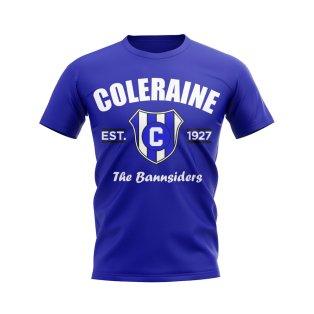 Coleraine Established Football T-Shirt (Blue)
