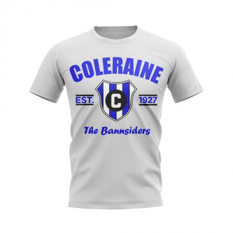 Coleraine Established Football T-Shirt (White)