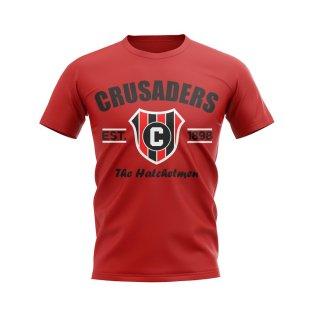 Crusaders Established Football T-Shirt (Red)