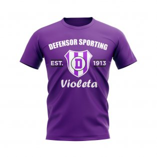 Defensor Sporting Established Football T-Shirt (Purple)