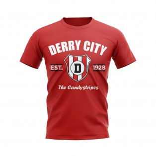 Derry City Established Football T-Shirt (Red)