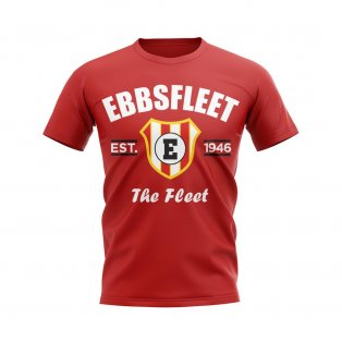Ebbsfleet Established Football T-Shirt (Red)