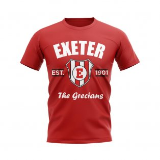 Exeter Established Football T-Shirt (Red)