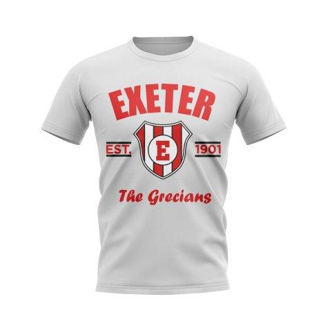 Exeter Established Football T-Shirt (White)