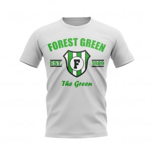Forest Green Established Football T-Shirt (White)