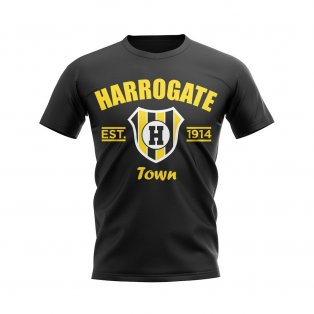 Harrogate Established Football T-Shirt (Black)