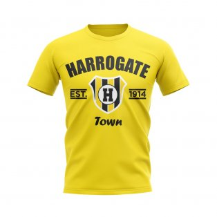 Harrogate Established Football T-Shirt (Yellow)