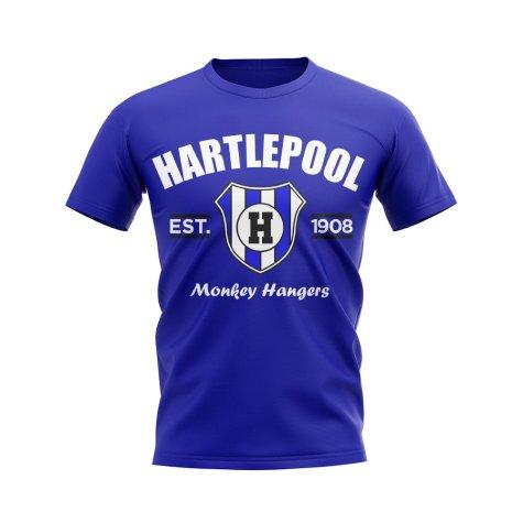 Hartlepool Established Football T-Shirt (Blue)