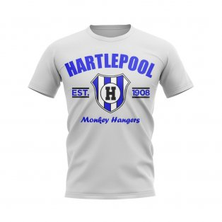 Hartlepool Established Football T-Shirt (White)