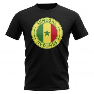 Senegal Football Badge T-Shirt (Black)