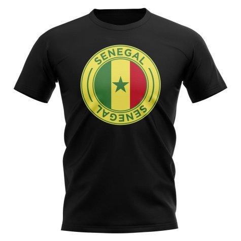 Senegal Football Badge T-Shirt (Black)