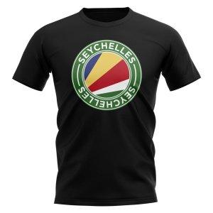 Seychelles Football Badge T-Shirt (Black)