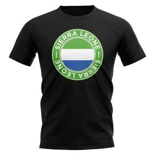 Sierra Leone Football Badge T-Shirt (Black)