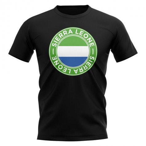 Sierra Leone Football Badge T-Shirt (Black)