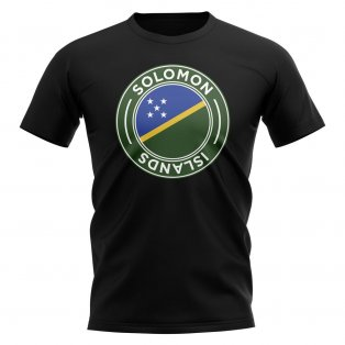 Solomon Islands Football Badge T-Shirt (Black)