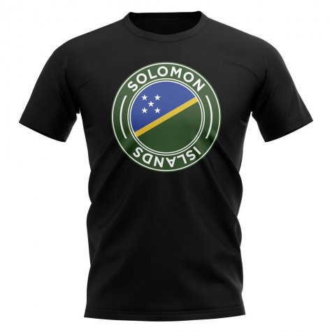 Solomon Islands Football Badge T-Shirt (Black)