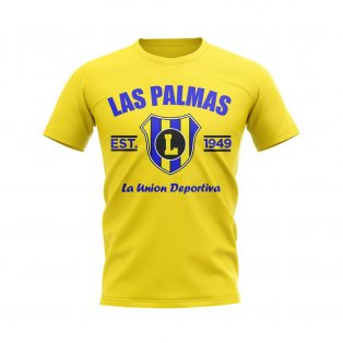 Las Palmas Established Football T-Shirt (Yellow)