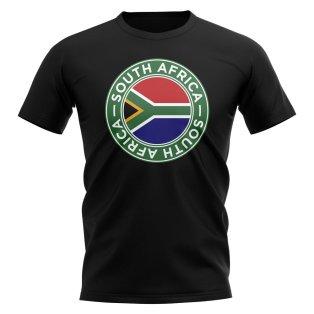 South Africa Football Badge T-Shirt (Black)