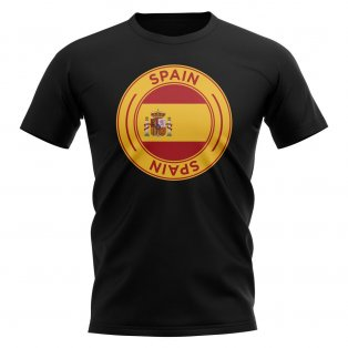Spain Football Badge T-Shirt (Black)
