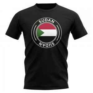 Sudan Football Badge T-Shirt (Black)