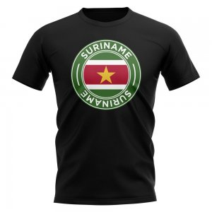 Suriname Football Badge T-Shirt (Black)