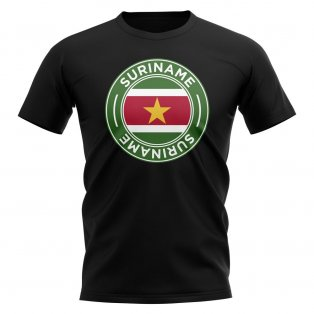 Suriname Football Badge T-Shirt (Black)