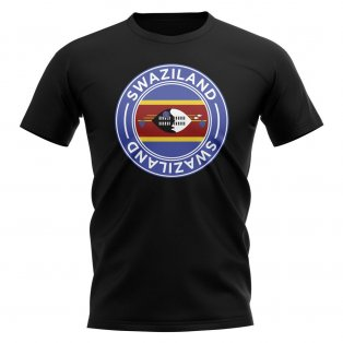 Swaziland Football Badge T-Shirt (Black)