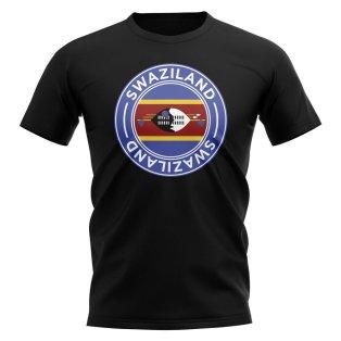 Swaziland Football Badge T-Shirt (Black)