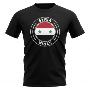 Syria Football Badge T-Shirt (Black)