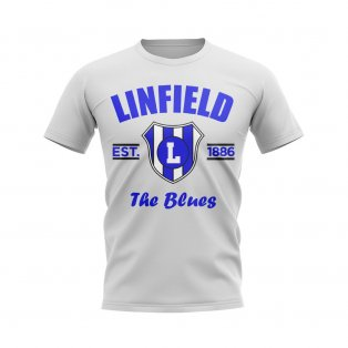 Linfield Established Football T-Shirt (White)