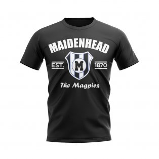 Maidenhead Established Football T-Shirt (Black)
