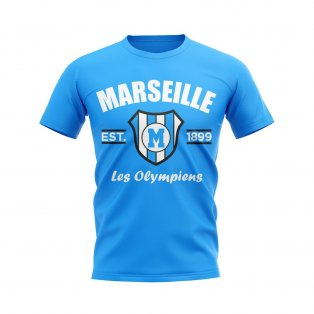 Marseille Established Football T-Shirt (Sky)