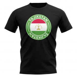 Tajikstan Football Badge T-Shirt (Black)