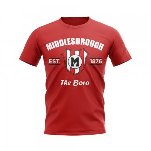 Middlesbrough Established Football T-Shirt (Red)